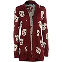 New Womens Ladies Owl Print Knitted Long Sleeve Jumper Open Cardigan 8 10 12 14