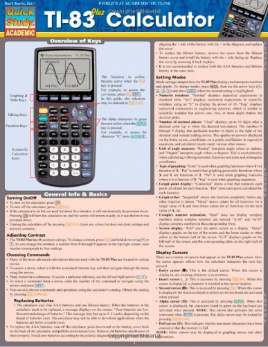 Price comparison product image Ti-83 Plus Calculator (Quick Study: Academic)