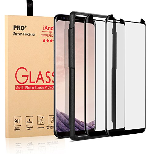 iAnder [2-Pack] Galaxy S8 Screen Protector Glass [Easy Installation Tray], 3D Curved [Tempered Glass] Screen Protector for Galaxy S8 [Case Friendly]