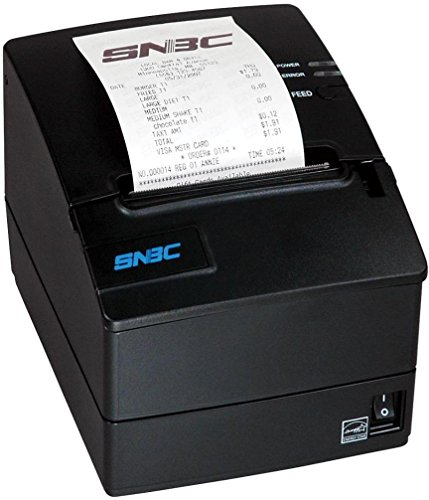 Receipt Printer Interfaces - SNBC 132086 Model BTP-R980III Ultra-High Speed Thermal POS Receipt Printer with USB + Serial + Ethernet Interfaces, Resolution 203 DPI x 203 DPI, Blazing Fast 310mm/Second Print Speed