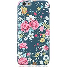 iPhone 6 6S Case Flowers Design for Women, VIVIBIN Shock Absorption IMD Soft TPU Case For iPhone 6 / 6s 4.7
