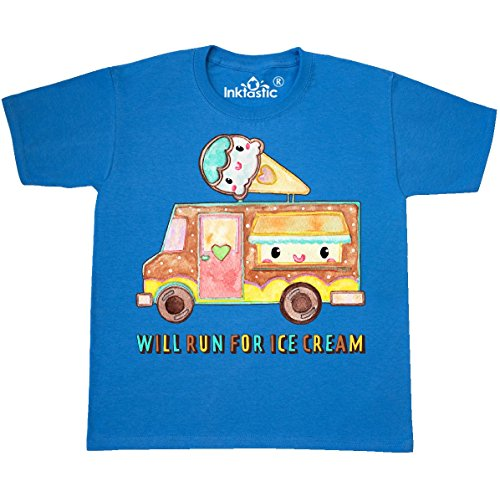 inktastic - Will Run for Youth T-Shirt Youth X-Small (2-4) Pacific Blue 30a30