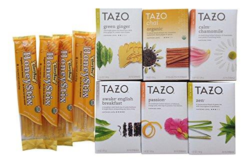 Tazo Tea Lovers Sampler 2 with HoneyStix