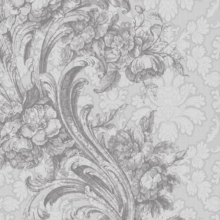 Baroque Style - Silver - paper napkins - 33x33cm - 3ply - Decoupage Vintage by PAW