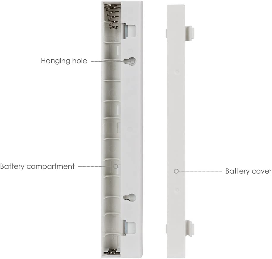 armario Chanhan escaleras,funciona con pilas cocina con 3 adhesivos magn/éticos para armario Barra de luz nocturna inal/ámbrica con 10 luces LED para interiores