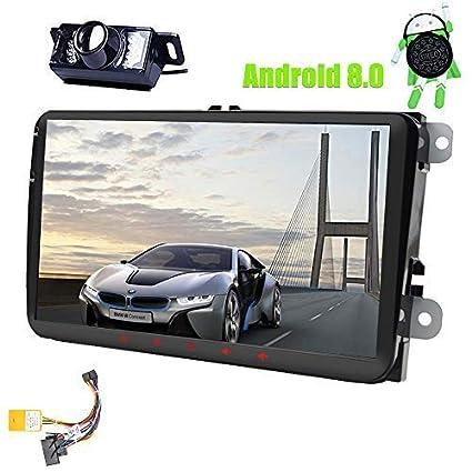 9 pulgadas Android 8.0 Doble 2Din Head Unit para VW Estéreo Golf Jetta Passat Polo En ...