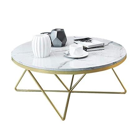 Soggiorno Moderno Con Tavolo Da Pranzo.Xyfl Tavolino Da Salotto Moderno Rotondo In Marmo Con Tavolino