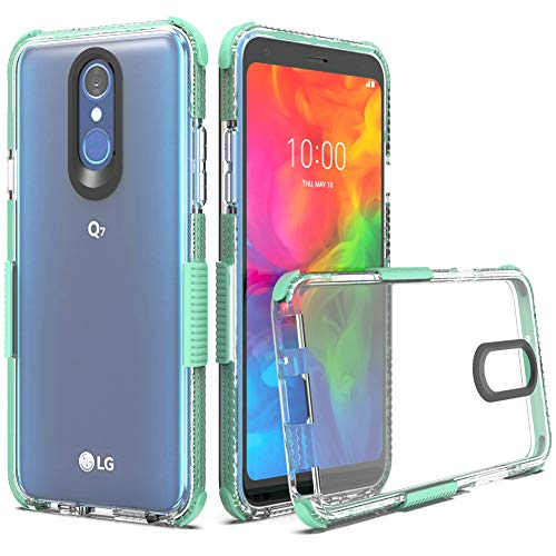 LG Q7 Case, LG Q7 Plus Case, LG Q7 Alpha Case, Dretal Flexible Crystal Case Shock Absorption TPU Protective Cover for LG Q7 (Mint Clear)