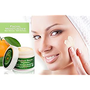Facial Moisturizer - Best Organic, 100% Natural, Hydrating, Moisturizing, Vitamin C Face Cream for Dry, Sensitive, Oily Skin, Anti-aging, Anti-wrinkle for Women and Men