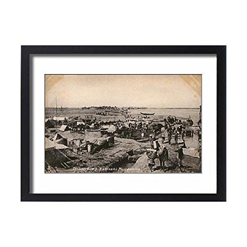 Framed 24x18 Print of WWI - Iraq - Mesopotamian Front - British Camp - Ali Gharbi (11575365)