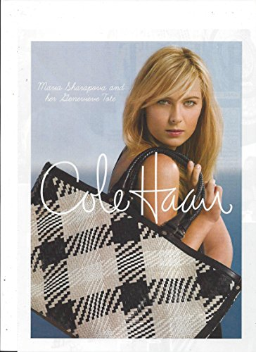 PRINT AD With Maria Sharapova For 2009 Cole Haan Genevieve Tote Bag