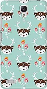 DailyObjects Blossom Deer Case For Xiaomi Redmi Note 4G