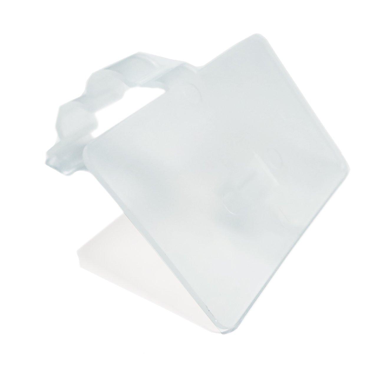2.25'' L x 1.25'' H Plastic Cooler/Refrigerator UPC Label Holder Clip Organizer for Double Wire Fridge Shelf - 50 Pack