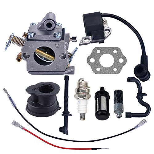 Savior Carburetor Ignition Coil with Gasket Spark Plug Fuel Line for Stihl MS180 MS170 017 018 Chainsaw
