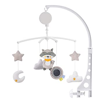 Baby Crib Bedding Decoration,White Crib Toys Hanging Arm Bracket Holder for Baby Boys and Girls