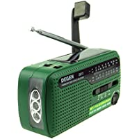 XHD® DEGEN DE13 FM AM SW Crank Dynamo Solar Power Emergency Radio A0798A World Receiver