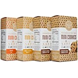 Partake Foods Crunchy Mini Cookies, Combo Snack Pack, Chocolate Chip, Sweet Potato Millet, Carrot Oat, Vegan, Nut Free, Gluten Free, Free of Top 8 Allergens, Safe for the School Yard (4 Boxes)