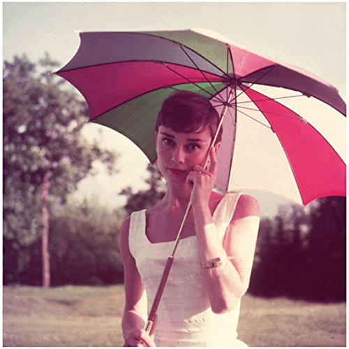 Audrey Hepburn Dress My Fair Lady (Audrey Hepburn 8 x 10 Photo My Fair Lady Funny Face Sabrina Breakfast at Tiffany's White Dress Colorful Umbrella kn)