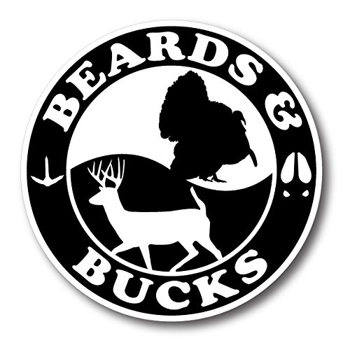 BOLDERGRAPHX 6183 BEARDS & BUCKS DECAL/STICKER WITH A SILHOUETTE OF A WILD TURKEY AND A DEER 5