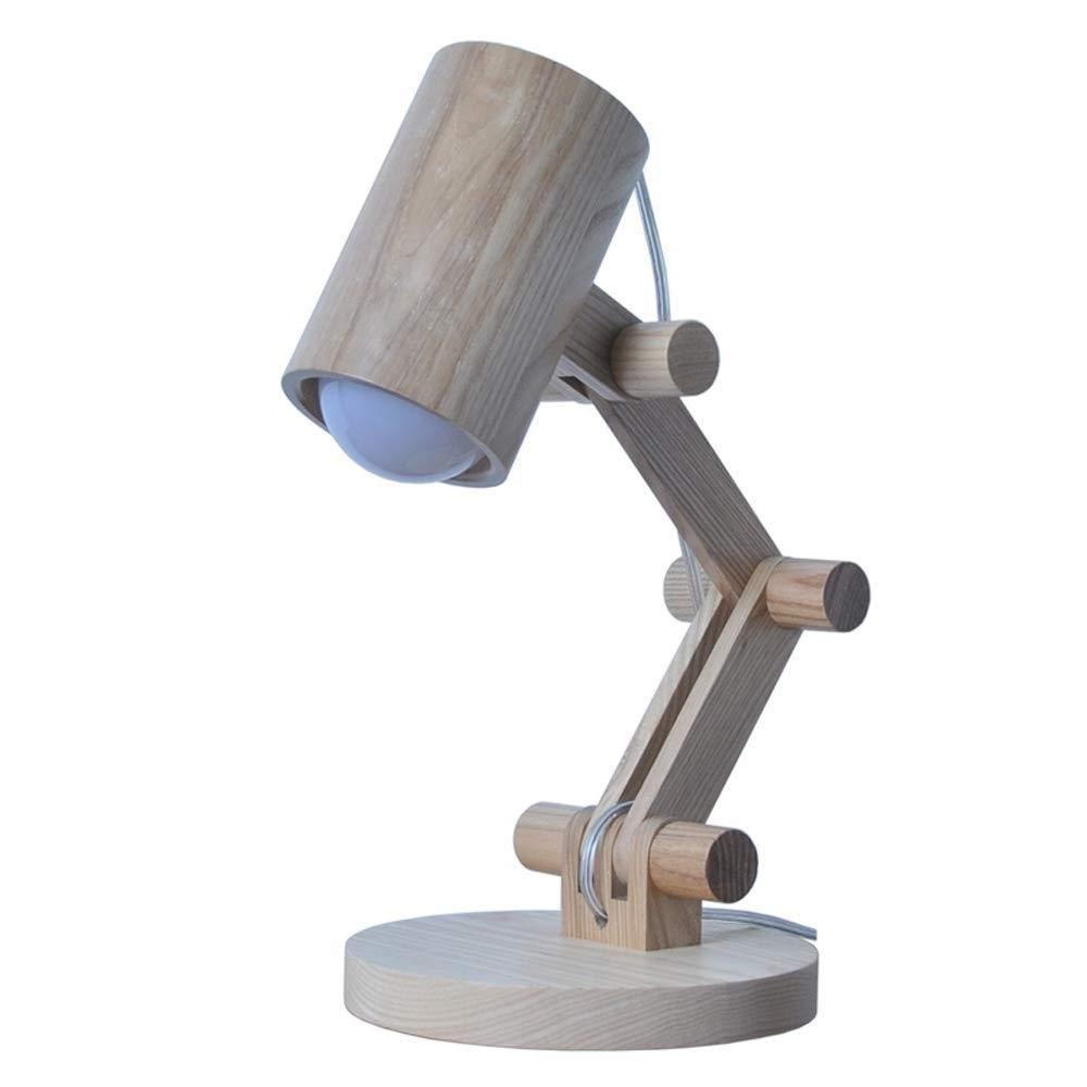 KJRJTD LEDデスクランプ、ウッドデザイナーテーブルランプ、リビングルーム用読書灯、寝室、書斎、オフィス、ナイトテーブルランプ B07TP3N1KM