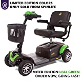 BUZZAROUND EX 4-Wheel Heavy Duty Long Range Travel Scooter Green, 18-Inch Seat