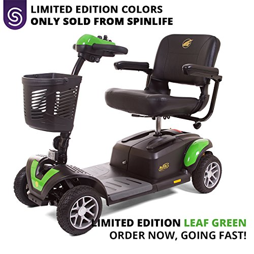 (BUZZAROUND EX 4-Wheel Heavy Duty Long Range Travel Scooter Green, 18-Inch Seat)