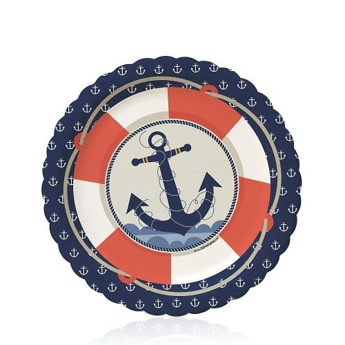 Big Dot of Happiness Ahoy Nautical - Party Dessert Plates (8 count) ()