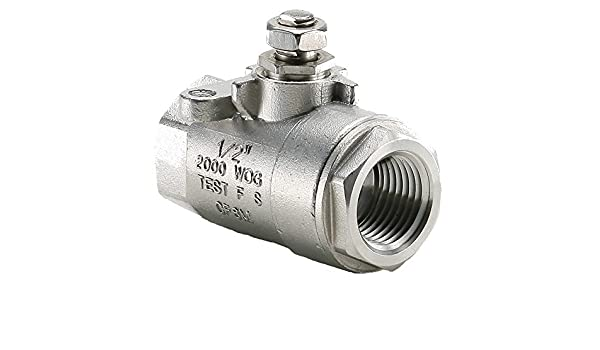 Pack of 10 CF-8M Stainless Steel Female Pipe Ends Parker V502SS-8-SUB-pk10 Industrial Ball Valve Female Pipe Panel Mount 1//2 1//2 Pack of 10