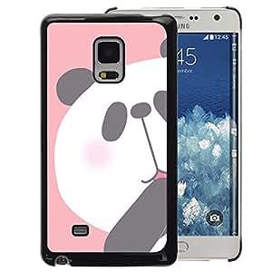 A-type Arte & diseño plástico duro Fundas Cover Cubre Hard Case Cover para Samsung Galaxy Mega 5.8 (Panda Kids Drawing Pink White Bear)