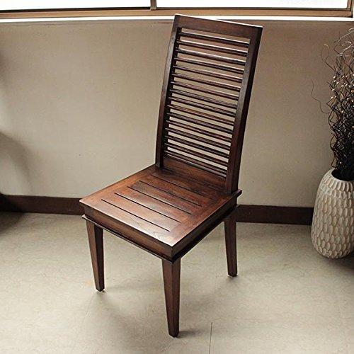椅子 チークウッドチェア ダイニングチェア 無垢 木製 デスクチェア 天然木 シンプル モダン B01LZIZTV3