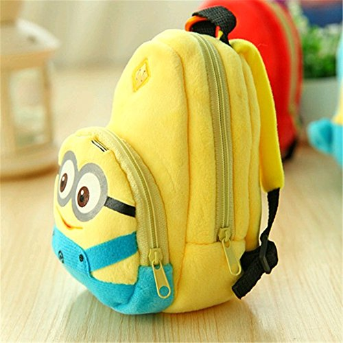 Topit Backpack Style Coin Pouch Mobile Phone Bag Minion Change Coin Purse Wallet Cute Cartoon Figures + 1 Pcs Wristband (Despicable Me)