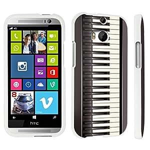 DuroCase ? HTC One M8 Hard Case White - (Black Piano)