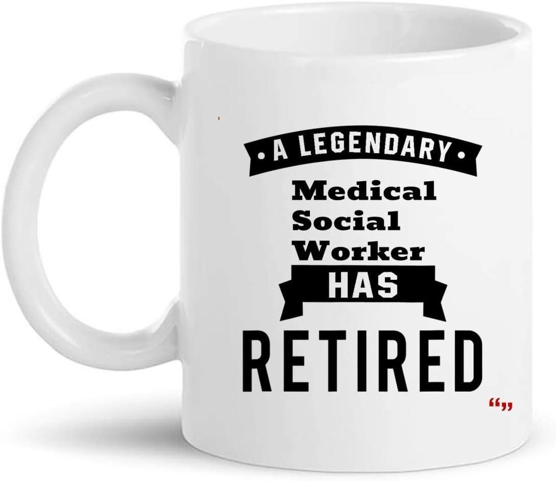 Not Applicable Taza de Regalo de Trabajador Social médico Jubilado Taza de 11 oz - Regalos de jubilación Tazas Tazas Regalo de retiro para la Abuela Abuelo