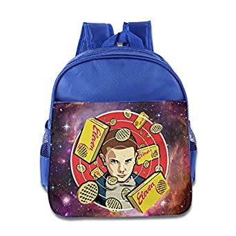 Stranger Things Eleven Eggo Kids Backpack School Bag For Boys/girls RoyalBlue