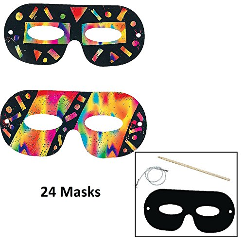 Mask Craft Kit (Magic Color Scratch Masks - Crafts for Kids & Magic Scratch 24 count)