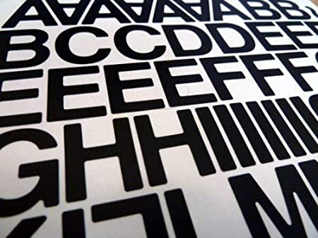 Sticky Back Vinyl Letters and Numbers in Various Sizes /& Styles /& Colours ...