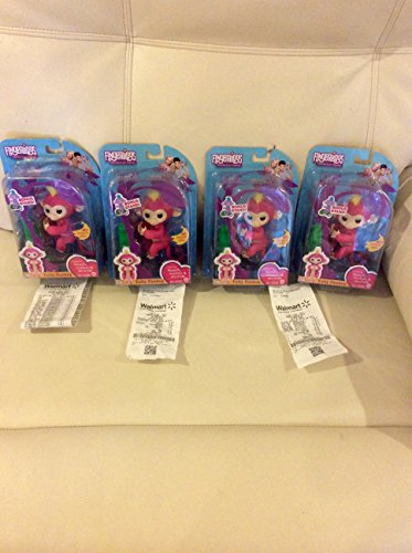 Fingerlings Baby Monkey   Bella   Pink  Includes Bonus Stand