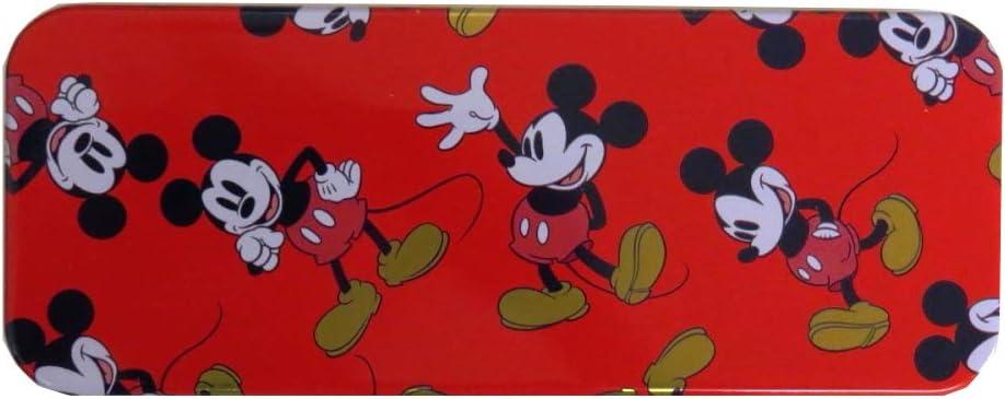 Mickey Mouse Disney Fliptop  Tin very good Pencil or art supplies