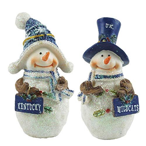 Hanna's Handiworks Kentucky Wildcats Collegiate Snowman Christmas Ornaments ()