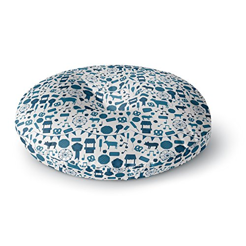 KESS InHouse Stephanie Vaeth Country Fair Blue White Round Floor Pillow, 26'' by Kess InHouse (Image #1)