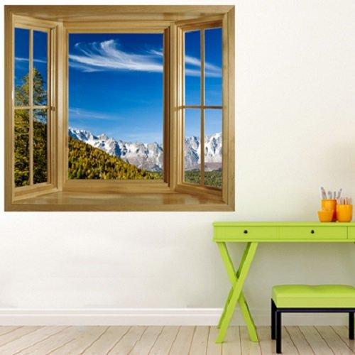 Fototapete fensterrahmen  wim190 - Fenster Blick auf den Mont -Blanc-Massiv italienischen ...