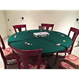 Fitted Poker Table top, Felt Poker Table Cover - Round Patio tablecloth Bonnet with elastic band for 36, 48. 60 inch tables. made custom