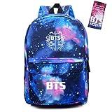 Bosunshine BTS Love Yourself V Suga Jin Jimin Jung Kook Casual Backpack Daypack Laptop Bag College Bag Book Bag School Bag with Hat (Bag Wallet-8)