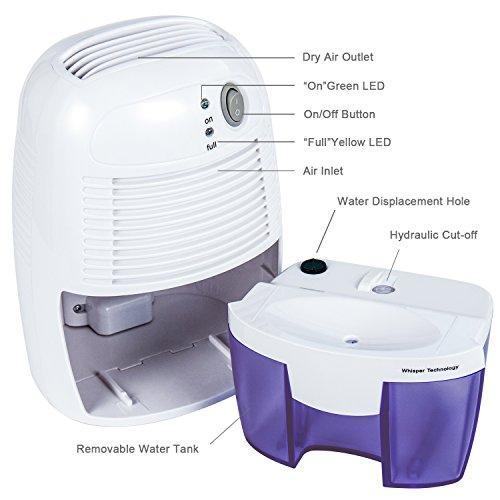 [해외]홈 미니 제습기 습기 흡수기 공기 제습기 500ML 물 탱크 에어 드라이어 지하실, 침실, 욕실, 옷장, 주방, 사무실/Home Mini Dehumidifier Moisture Absorber Air Dehumidifier with 500ML Water Tank Air Dryer for Basements, Bedroom, Bathroom, W...