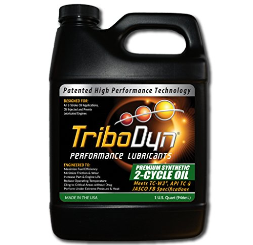 TriboDyn 2-Cycle Synthetic Engine Oil 1 US Gallon - Superior Friction Reduction - Lowers Operating Temps - Improves Fuel Mileage - Patented Addives - Superior Oil Technology