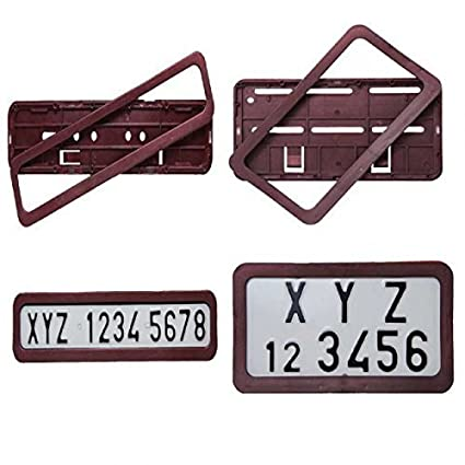 2pcs Bike Motorcycle Number ABS Autotrends Plastic Plate Frame ...