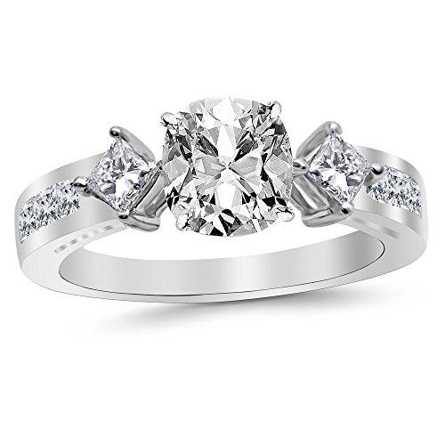 0.6 Ct Princess Diamond - 9