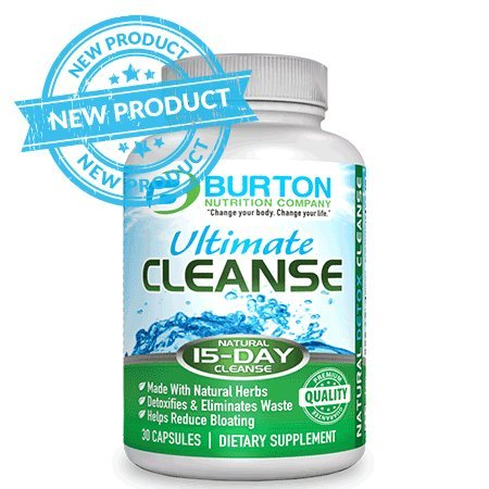15 Day Ultimate Cleanse by Burton Nutrition - Colon Cleanse - Weight Loss - Energy - Reduce Bloating - Burn Fat - Better Nutrient Absorption