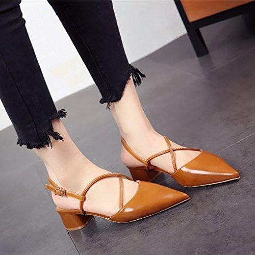 scarpe incavata e b personalità e da lavoro primavera sandali moda tacco FLYRCX donna La l'estate alto scarpe z8xwOO