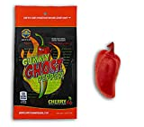 Ghost Pepper Insane Heat Gummy Candy - Cherry Flavored Ghost Pepper Candy Made With Real Ghost Pepper - Chile Shaped And Hot - 1.75oz Retail Bag